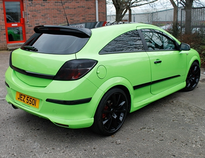 Green-car-full-wrap