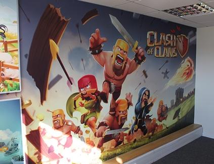 Clashofclans-self-adhesive-wall