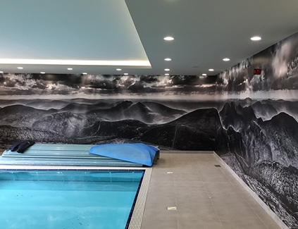 Pool-self-adhesive-wall