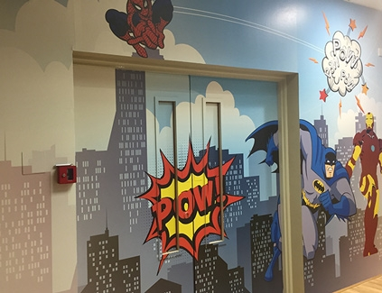 Superhero-self-adhesive-wall