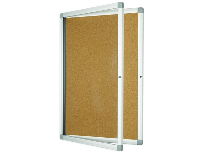Lockable-cork-board