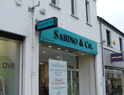 Sabino-hanging-projecting
