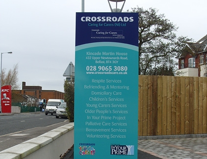 Crossroads-totem--freestanding-signs