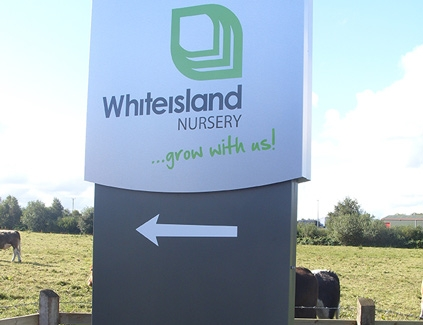 Whiteisland-totem--freestanding-signs