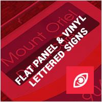 Flat Panel & Vinyl Lettered