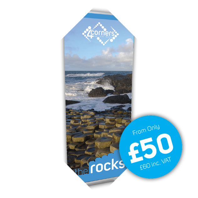 The Rocks Budget Roll Up Banner Stand